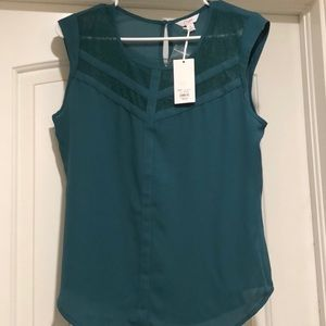 NEW Candies Green/Blue Blouse Size Medium